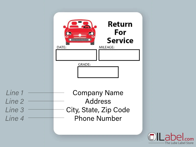 Introducing Customized Oil Change Stickers Oilabel Com